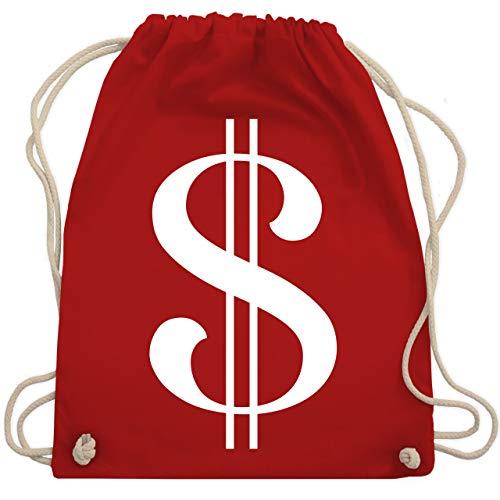 Karneval & Fasching - Dollar Kostüm weiß - Unisize - Rot - WM110 - Turnbeutel & Gym Bag