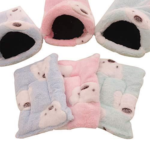 Cama cálida para Mascotas con diseño de Animales pequeños y Cama Suave para hámster, Jaula para cobaya, Erizo, Rata, Chinchillas HCWW02