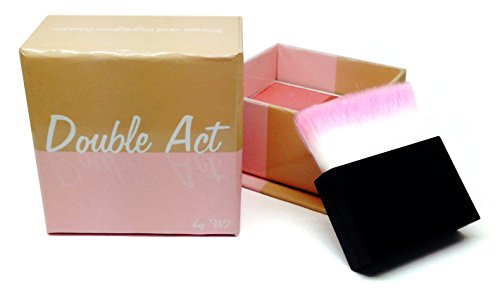 w7 Double Act Poudre Bronzer et Blush Rose avec Pinceau 40 g