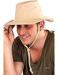 Dannii Matthews 100% algodón gorro de Outback bush con correa para la  barbilla y cierre 29e154b257a