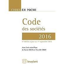 Code des sociétés - 2016, 4ème Ed.