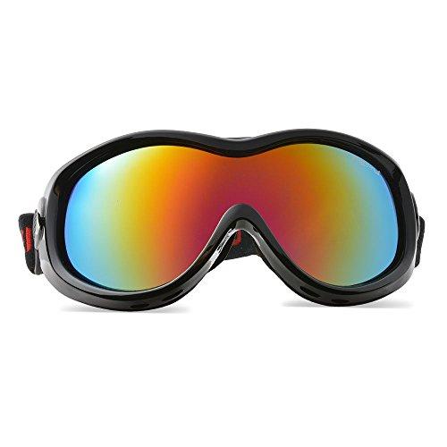 Skibrille, ODOLAND Kinder6+ Snowboardbrille Sportbrille Schneebrille- elastische Passform, anti-beschlagen, unisex one size Einheitsgröße, Sonnenschutz Anti-Fog Weitwinkel Winddicht für Outdoor Snowmobile Snowboard Skate