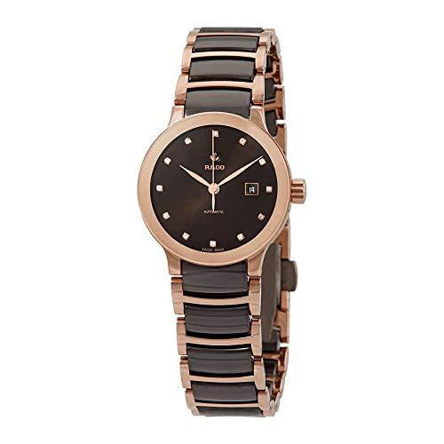 Rado CENTRIX Automatische Diamond Brown Zifferblatt Damen-Armbanduhr r30183752