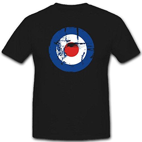 Royal Air Force Grunge England Brittain Wappen Flugzeug Bomber- T Shirt #1866, Größe:XXL Herren, Farbe:Schwarz (Force T-shirt Schwarz Air)