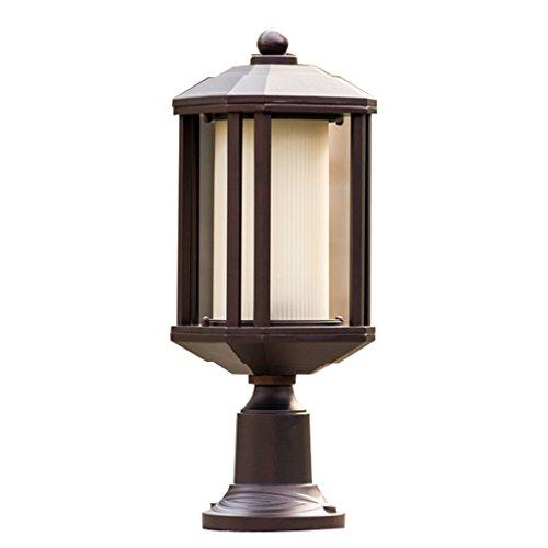 WSXXN Pilier Lampe Extérieure Colonne Lampe Européenne Villa Porte Pilier Lampe Étanche Jardin Post Lumière