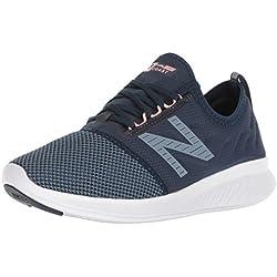 New Balance Fuel Core Coast V4, Zapatillas de Running para Mujer, Azul (Galaxy/Light Petrol/Himalayan Pink Lg4), 39 EU