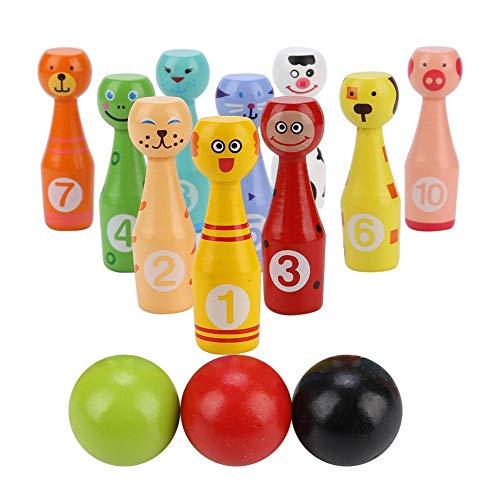 VGEBY1 Jouet Bowling Set, Kit de Jouets Educatifs pour Enfants Jeu de Bowling Dessins Animés en...