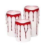 Give U Weiße blutende Kerzen,Party Tricks Streich Requisiten, Creepy Joke Spielzeug, 7.6x10.2/12.7/15.2cm, 3er Pack