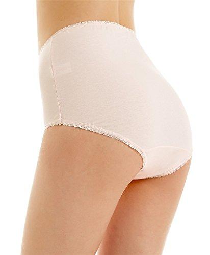 Attraco Damen Slips Baumwolle Bikinislips Streifen Details 4 Pack Hipsters