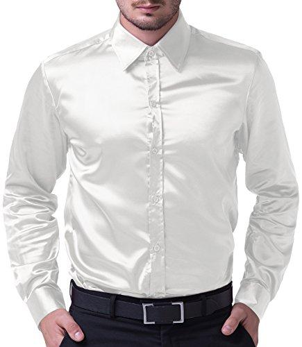 PaulJones Vielseitig Männer Täglichen Blick Berufung Hemd Weiß Größe M