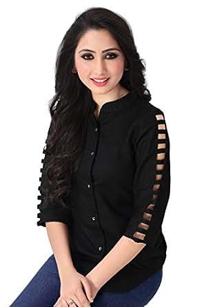 Venisa Woman's Premium Cotton Plain Short Top (Medium)