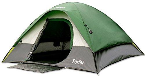Campingzelt Forfar Outdoor Zelt Familiezelt Kuppelzelt für 2-3 Personen Wasserdicht Stabil 3000 mm Wassersäule