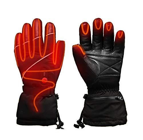 LANGYINH Elektrisch Erhitzt Handschuhe Thermal Handschuhe Mit Wiederaufladbar Batterie Handwärmer Fäustling Heizung Handschuhe Zum Winter Aktivität,Unisex,XL