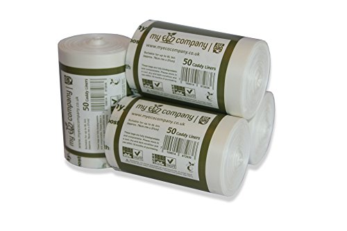 My Eco Company 5L/6L biodegradabili e compostabili Sacchi della Spazzatura rifiuti Alimentari-200Caddy Liners