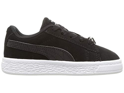 PUMA Kids Baby Boy s Suede Classics Fabulous INF  Toddler  Black 9 M US Toddler