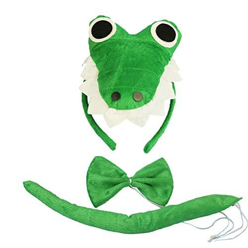 Krokodil Kopf Kostüm - Amosfun 3 stücke Kinder Tier Kostüm