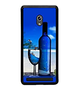 printtech Beach Drink Bottle Wine Back Case Cover for Asus Zenfone 5 , Asus Zenfone 5 A500CG