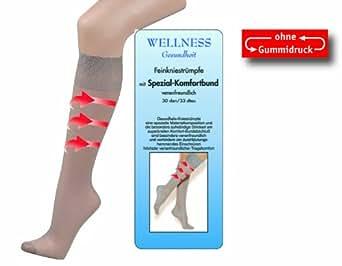 5 Paar Gesundheits-Fein-KNIE-Strümpfe mit Spezial-Komfortbund