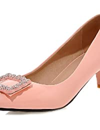 Zapatos rosas de verano de punta redonda oficinas para mujer 5umSZwn