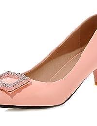 Zapatos rosas de verano de punta redonda oficinas para mujer