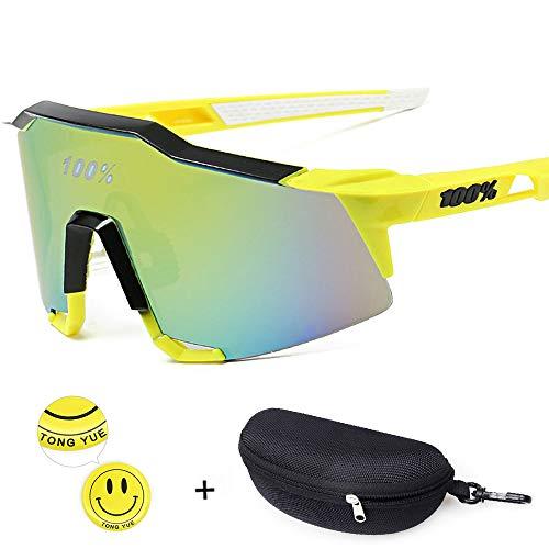 Tong Yue Unisex Sonnenbrille Radfahren Outdoor Eyewear für Männer Frauen, C4