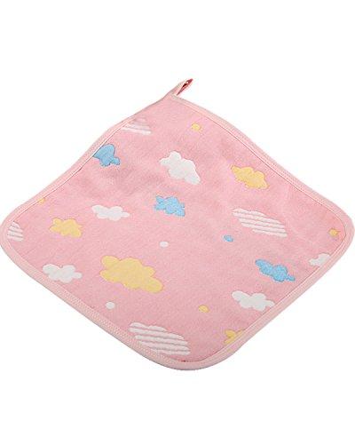 Kidsform Baby Neugeborene Sommer Unisex Rülpsen Drooling Bibs Tuch Taschentuch Rosawolken F(0-5Y)