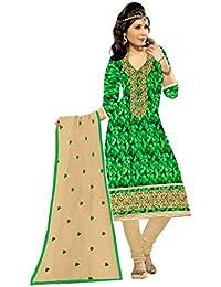 MAHI FASHION Women's Cotton Dress Material (MF28_Free Size_Multi-Coloured)