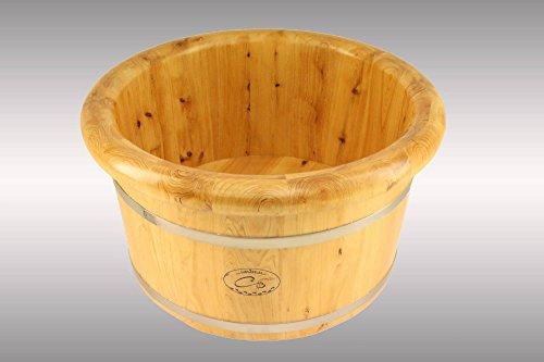 XL Deluxe Fußbadekübel Classic Fußbadewanne Aufgusseimer Saunakübel Bottich Fußbad Holz Kübel Zuber Fußbadewanne Fußkübel Fußwanne