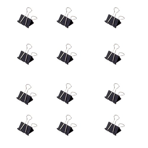 Preisvergleich Produktbild Original Mauly Klemmer 32 mm, Foldbackclip, Schwarz, Klemmweite 13 mm, 2143290, Karton 12 Stück