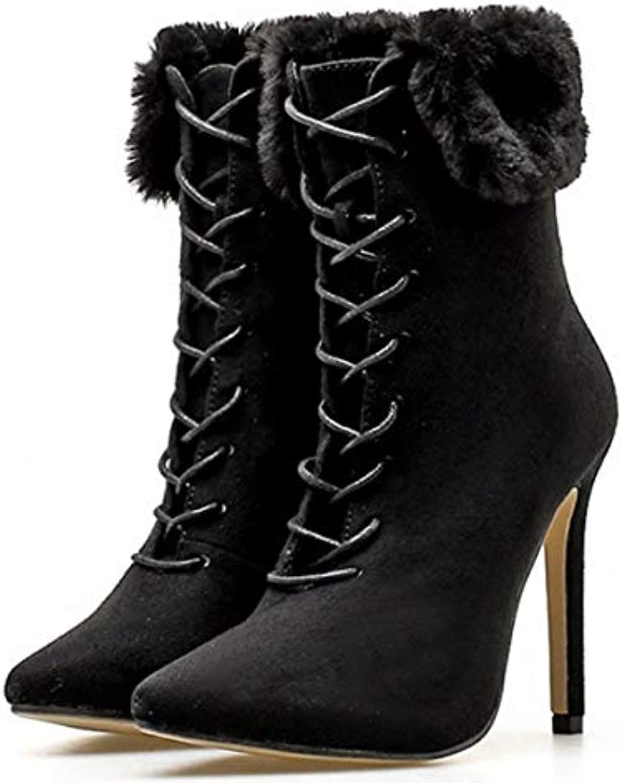 AJUNR AJUNR AJUNR Donna Alla Moda Nuove Mode In Autunno E Inverno Sexy Appuntito Sottili E Corti Stivali High Heeled Stivali... | Stili diversi  866762