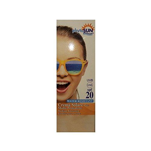 Phyto sintesi phytosun solari crema solare viso protezione media water resistant 20 spf 100 ml