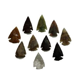 Animus Imperat 10 kleine Pfeilspitzen Steinzeit Nachbau