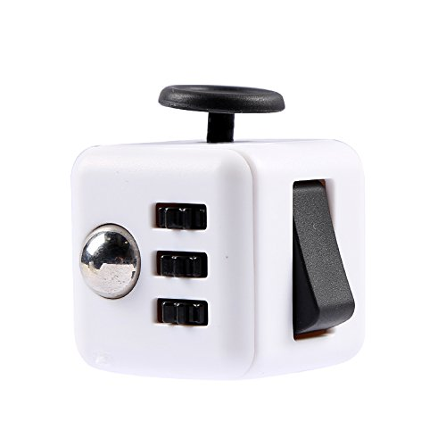 Golden Gift Cube anti-stress avec 6fonctions différentes (Fidget Cube) Blanc/no