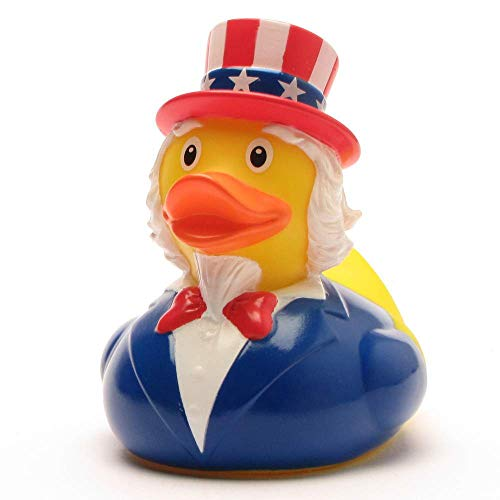 DUCKSHOP I Uncle Sam Quietscheente I Badeente I L: 8,5 cm -