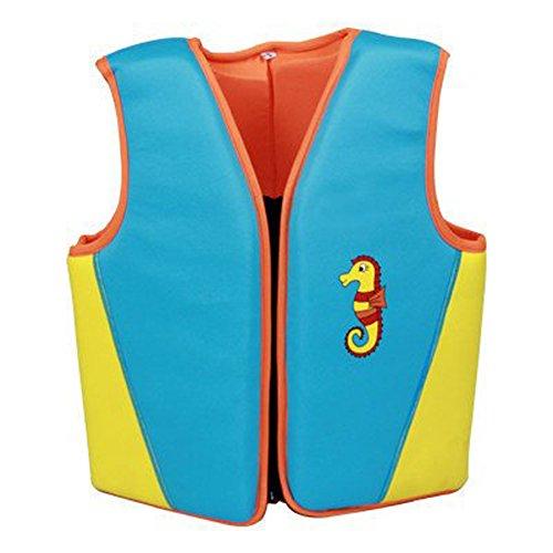 Verstellbar Neopren Weich Schwimmwest Schwimmhilfe Großer Auftrieb Sicherheit Wetsuit Badewanne Pool Schwimmjacke Sommer Baby Kinder Mädchen und Jungen