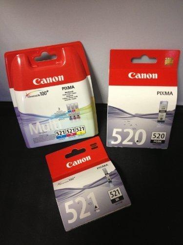 5 Original Canon Cartuchos de impresora (BK/PBK/Y/C/ M) para Canon Pixma IP4700 Cartuchos de tinta
