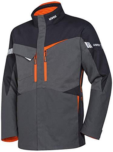 Uvex Metal Pro Herren-Arbeitsjacke - Dunkelgrau-Orange Männer-Bundjacke - Mit Optimal Platzierten Schutzzonen XL