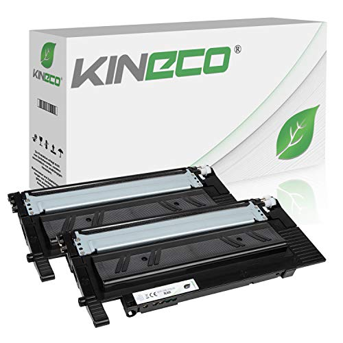 2 Toner kompatibel zu Samsung Xpress C480W/TEG, C480FW/TEG, Xpress C430W/TEG - CLT-K404S/ELS - Schwarz je 1.500 Seiten -