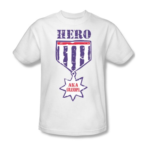 Grandpa alias Hero-Maglietta da uomo, colore: bianco Bianco