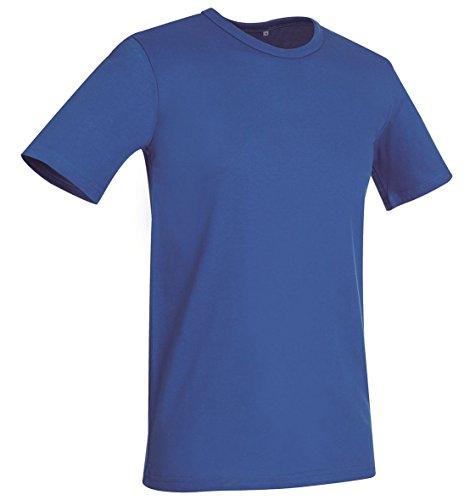 Stedman Stars Herren T-Shirt Grau Grau Rot - King Blue