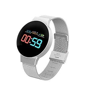 Chenang Fitness Armband mit Pulsmesser,Wasserdicht IP68 Fitness Tracker Farbbildschirm Fitness Uhr Aktivitätstracker Schrittzähler Uhr Smartwatch Damen Herren Anruf SMS Beachten für iOS Android Handy