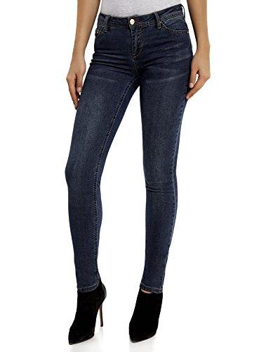 oodji Ultra Damen Jeans Skinny, Blau, 26W / 32L (DE 34 / EU 36 / XS) (5-pocket-jeans Jugendliche)