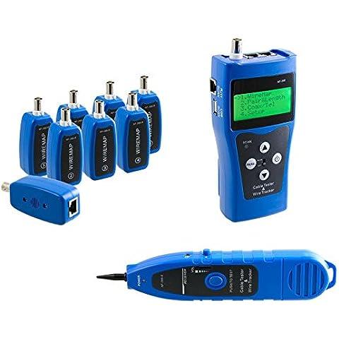 Kalea Informatique–Medidor profesional Red RJ45RJ11USB BNC–Teste la longitud (RJ45) cartografía (RJ45BNC) polaridad (RJ45RJ11BNC USB)–permite de travailler sobre 8Cable al mismo
