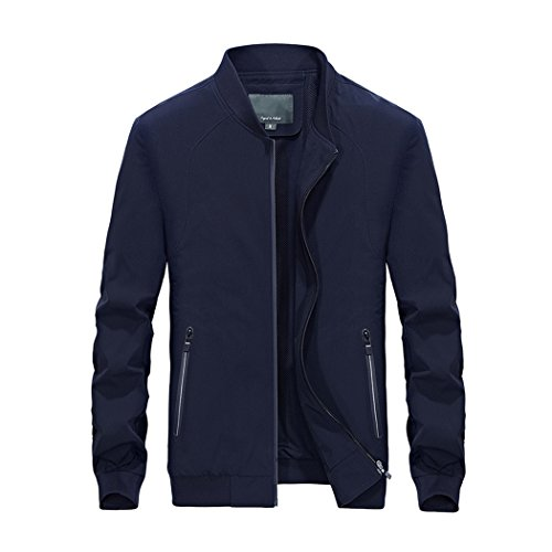 walk-leader-mens-outdoor-casual-softshell-v-neck-jacket-active-zipper-slim-fit-coat-blue-uk-m