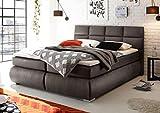 Froschk nig24 Kosali 180x200 cm Boxspringbett Bett mit Bettkasten Grau, Ausf hrung Variante 3