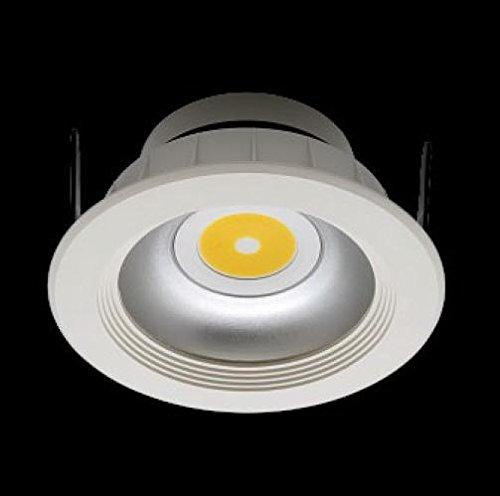 Lampe Downlight ECO 10Stück eingebaut in Gipskarton-Decke 10–13Watt 110–240VAC 50–60Hz weiß neutral–Weiß