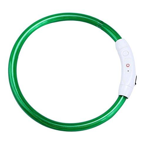 Tefamore wiederaufladbare USB wasserdicht LED blinkt Lichtband Sicherheit Haustier Hundehalsband (Grün) Niedrigen Preis-smart-telefone