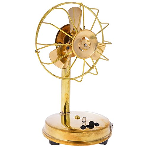 RAJKRUTI Metal Antique Fan(handicraft) for home decor working with battery and nokia standard charging point set of 2 - (10 cm x 9 cm x 16.5 cm)