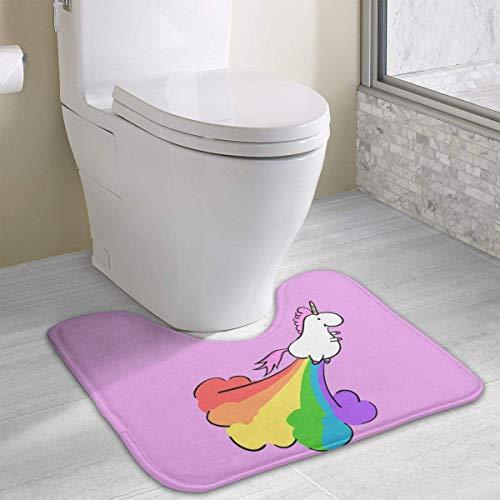 Hoklcvd Furz-Regenbogen-Einhorn Rutschfeste Kontur Badematte für Toilette, saugfähiges Wasser, perfekt für Badezimmer. Badmatten online kaufen zum besten Preis