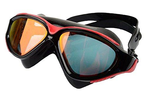 Anti-Fog-Schutzbrille-große Rahmen-Galvanischer Überzug Schwimmbrillen-B & R